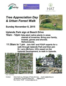 2015 Tree App & Urban Forest Walk poster